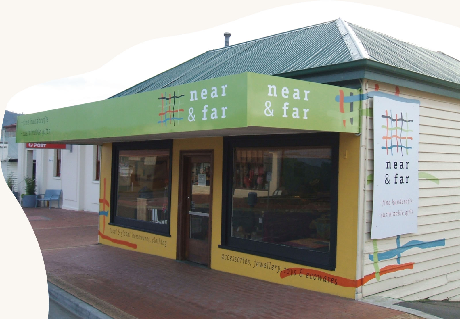 Near and Far shopfront at 30 Mary Street, Cygnet Tasmania 7112